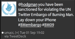 UN Twitter Monitors vigorously sanction violators of the Embargo